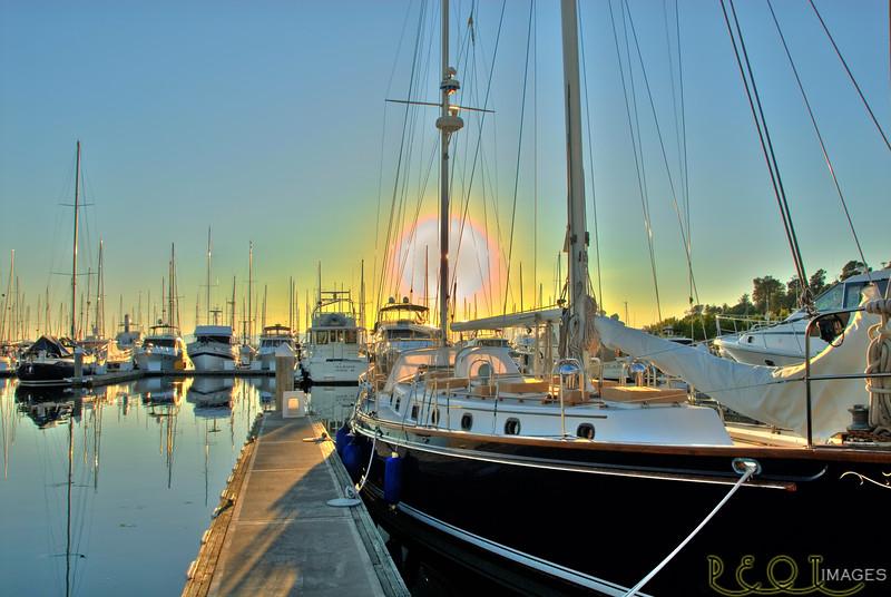 Elliot Bay Marina, Sunset.