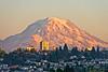 Mt. Rainier sunset from Ruston Way waterfront, Tacoma.