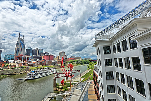The General Jackson passes downtown Nashville