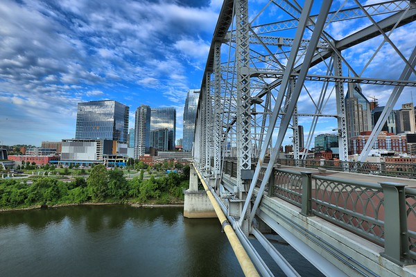 A Side of Nashville from the Pedestrian Bridge