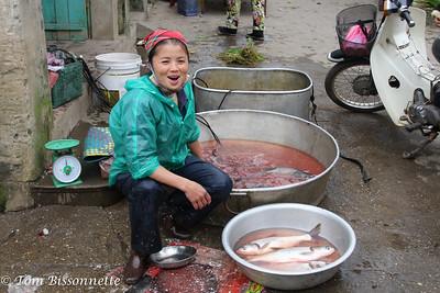 Happy Fish Lady