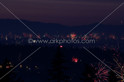 July 4th 2012. Looking north over Portland and Vancouver, WA.