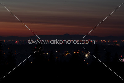 July 4th 2012. Looking north over Portland and Vancouver, WA