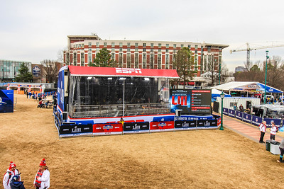 ESPN's portable broadcast stage.
