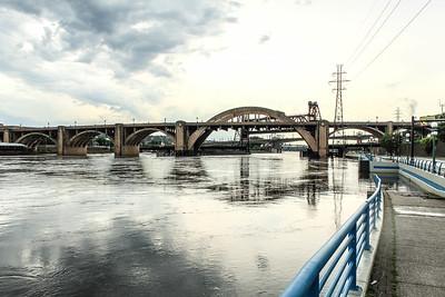 Bridges across the Mississippi River in St. Paul, MN