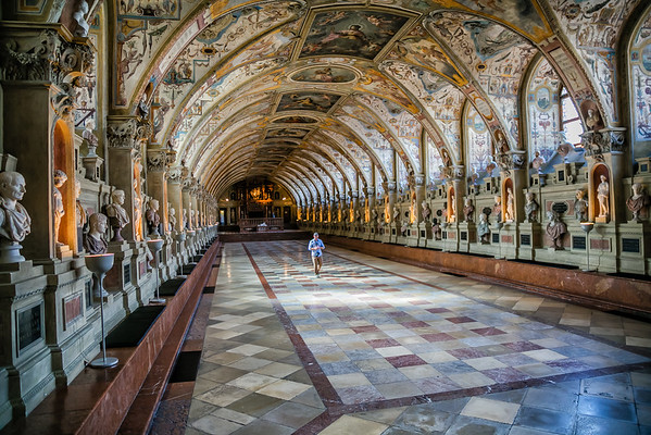 Hall to Ourselves at the Munich Residenz Palace
