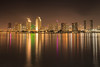 Night Skyline of San Diego Downtown