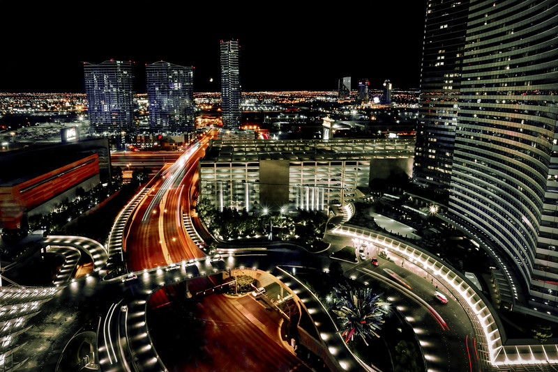 Night Cityscape from Aria