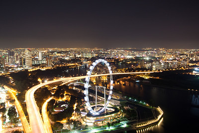 Singapore Flyer from the Marina Bay Sands Skypark