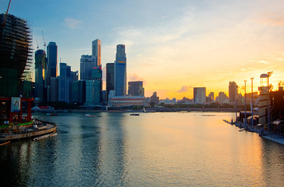 Sunset on Marina Bay - Singapore