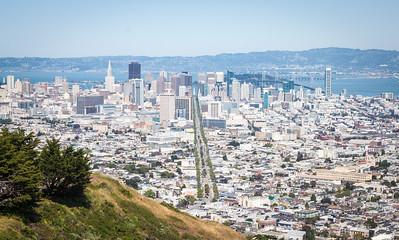 Market Street from Twin Peaks -- San Francisco, California, USA