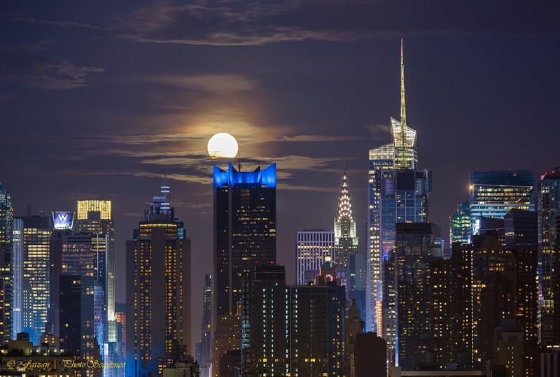 Super Moon over Mid town Manhattan {Explored}
