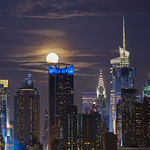 Super Moon over Mid town Manhattan {Explored}