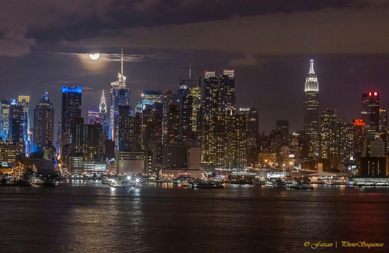 MIdtown Manhattan - Lunar eclipse