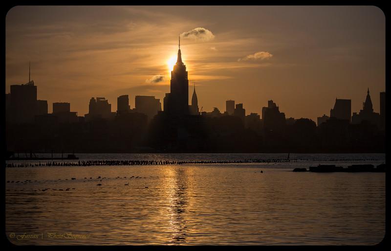 Manhattan Skyline Silhouette 2