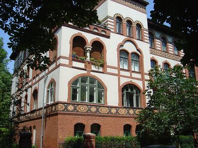 De woning in Steglitz waar Rudi en Wendy het gelijkvloers appartement huurden.