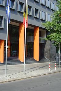 """De inkom van de """"Belgische Boodschap"""" in Berlijn."""