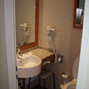 De Badkamer is wel heel klein.