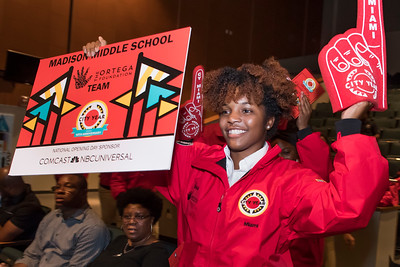 The City Year 10th Annual Opening Day Ceremony at North Miami Senior High School in North Miami on Oct 27th, 2017. (Photo by Mitchell Zachs)