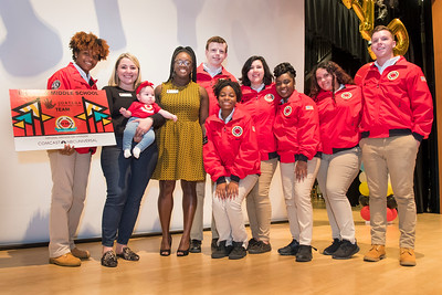 The City Year 10th Annual Opening Day after ceremony group shot and other picture at North Miami Senior High School in North Miami on Oct 27th, 2017. (Photo by Mitchell Zachs)