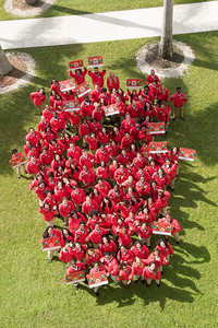 The City Year 10th Annual Opening Day group shots at celebration and ceremony at North Miami Senior High School in North Miami on Oct 27th, 2017. (Photo by Mitchell Zachs)