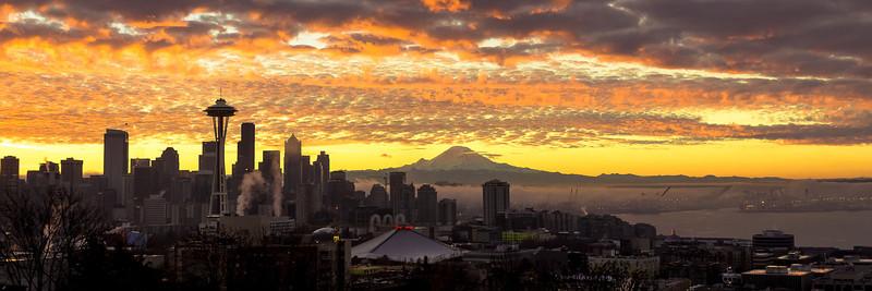 Late fall sunrise over Seattle.