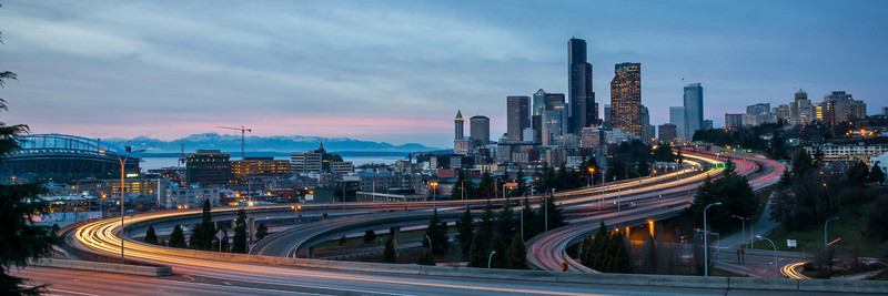 First sunset of 2013, Seattle Wa.