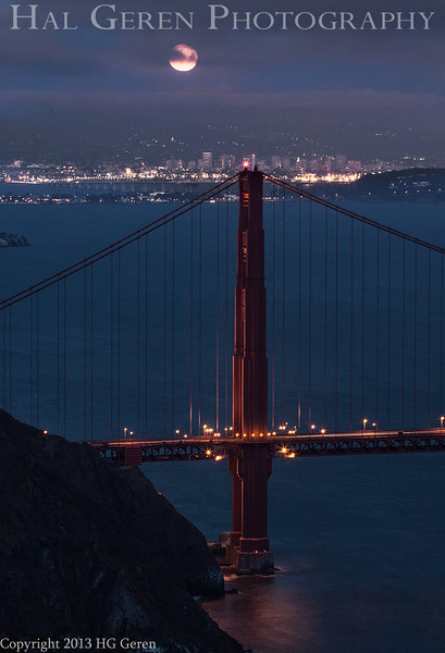 Moonrise over the Golden Gate<br /> San Francisco, California<br /> 1308GG-GG2
