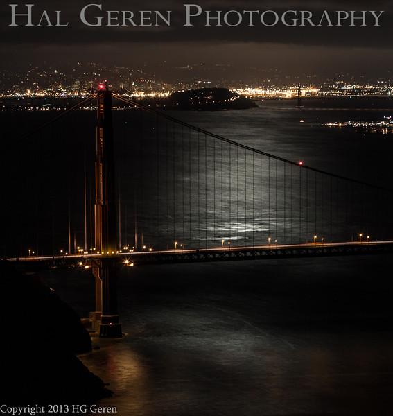 Moonrise over the Golden Gate<br /> San Francisco, California<br /> 1308GG-GG11