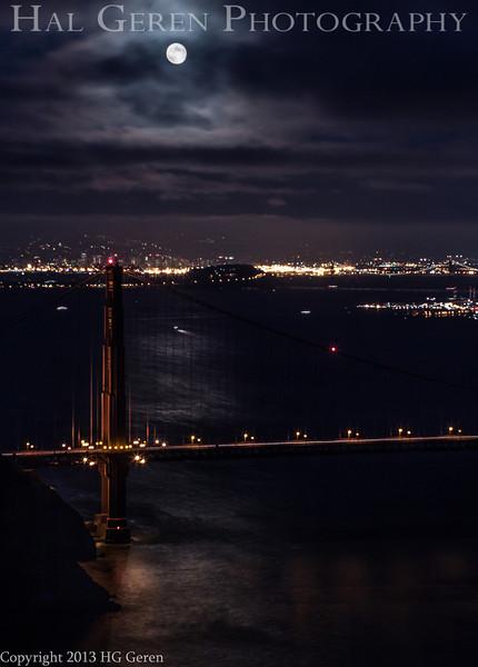 Moonrise over the Golden Gate<br /> San Francisco, California<br /> 1308GG-GG9