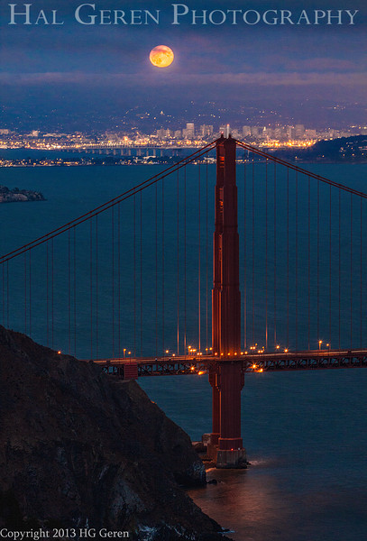 Moonrise over the Golden Gate<br /> San Francisco, California<br /> 1308GG-GG1