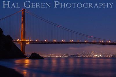 Golden Gate Bridge from Kirby Cove Marin, California 1304KK-GGB4