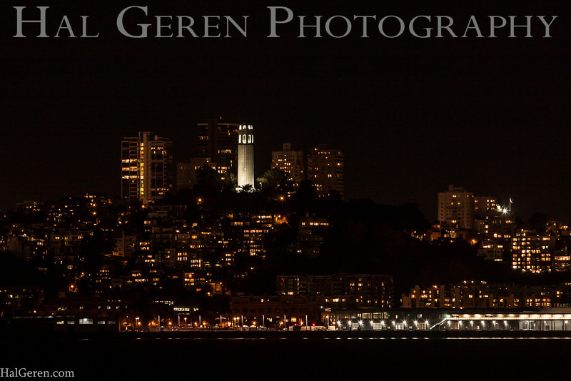 Coit Tower from Treasure Island<br /> San Francisco, California<br /> 1311BB-CT1