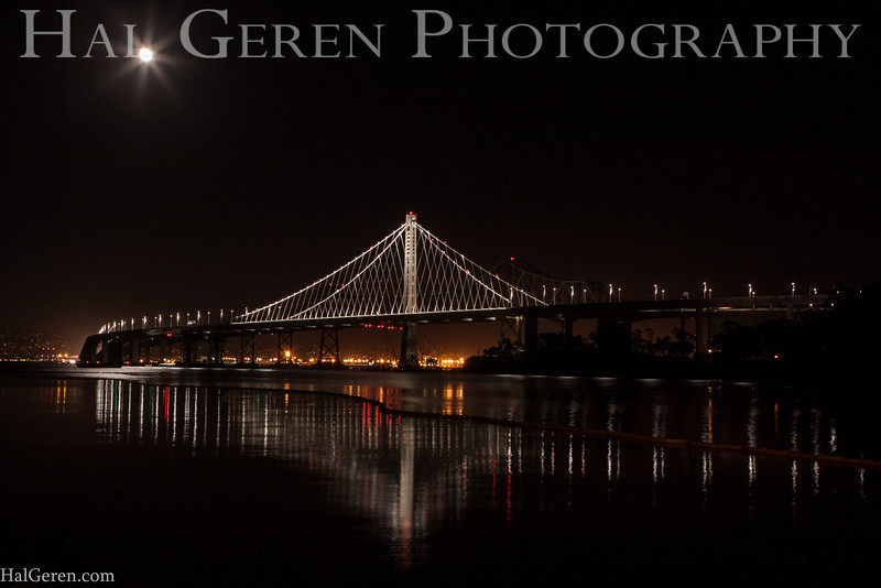 Bay Bridge from Treasure Island<br /> San Francisco, California<br /> 1311BB-BS1