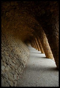 The twisted arches at the Gaudi Park