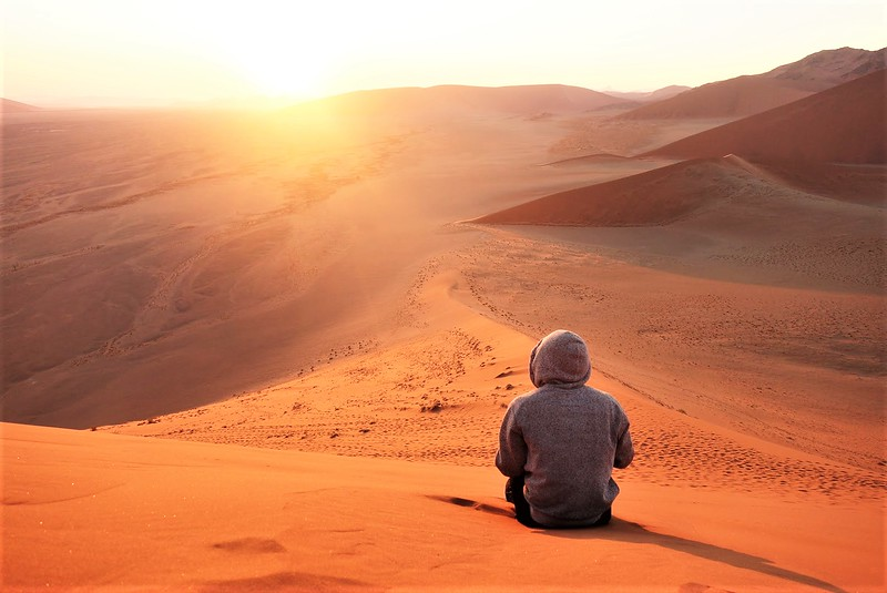 Sunrise in Namibia