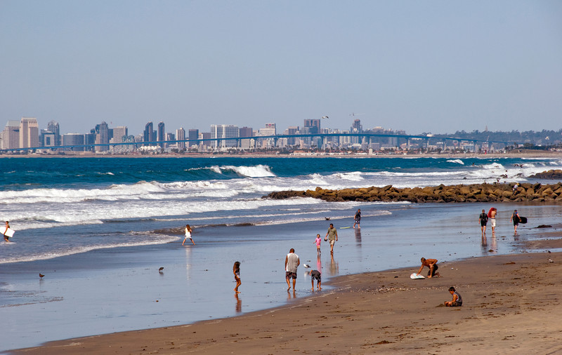 San Diego Skyline from Imperial Beach, CA