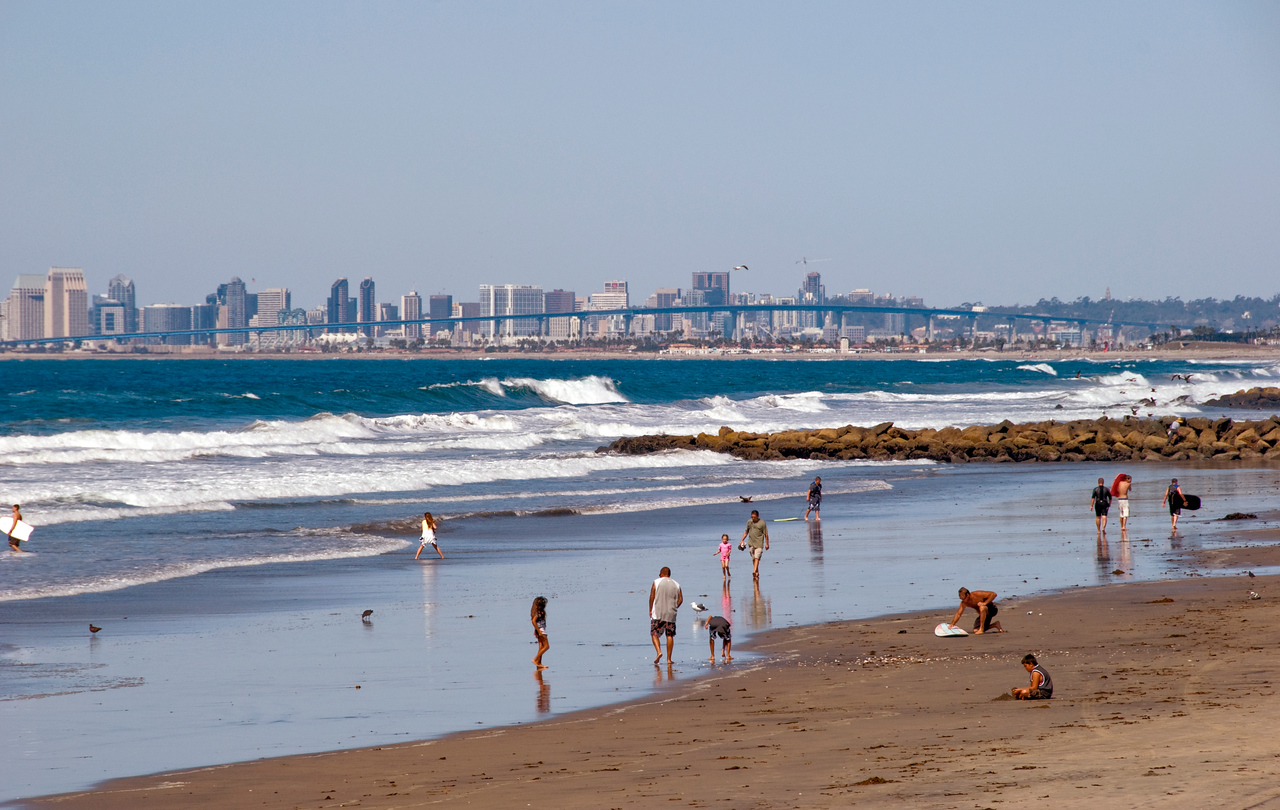 San Diego Skyline from Imperial Beach, CA