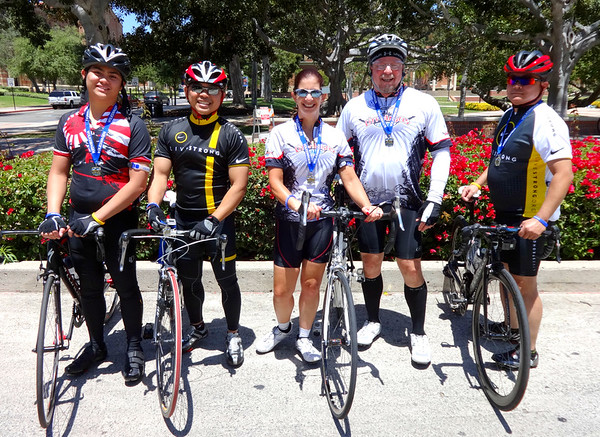 City of Angels LAPD Cycle Ride, UCLA Campus May 22, 2016