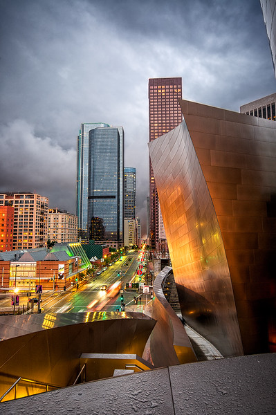 Storm at Disney Concert Hall