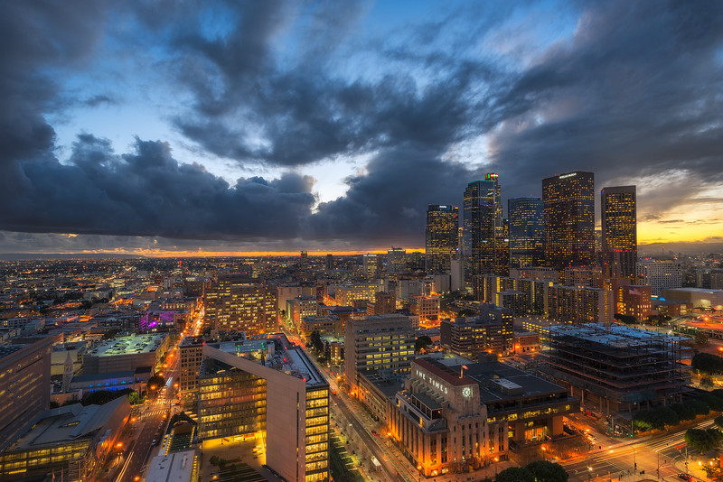 Stormy Skies over Downtown Los Angeles