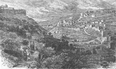 Old Lower Valley of Jehoshaphat, or Kidron Valley 1800s (Ottoman territory)