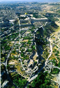 Jerusalem - City of David overlay/outline outside Old City wall  http://emp.byui.edu/SATTERFIELDB/Rel211/jerusalem.htm