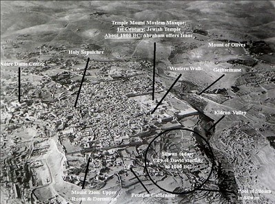 Jerusalem (British administration) - Arial view photo from South 1930s or earlier (catholic-convert.com)