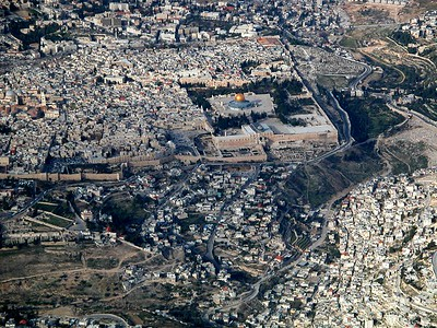Temple Mount and City of David aerial view from south, tb010703233