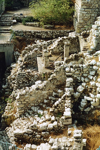 City of David - Nehemiah's wall and remains of a house (Area G from north)