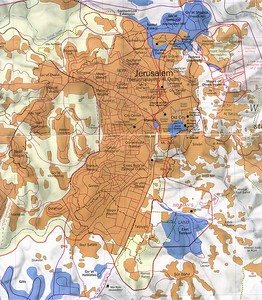 Jerusalem Map - Central Jerusalem (New City) Neighborhoods