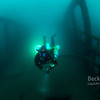 Rebreather Diver Richard on the City of Detroit Shipwreck lake huron