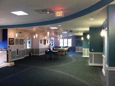 2nd floor hallway, also called the Games area