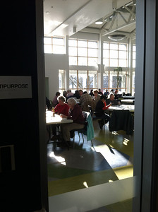Bingo players in the Multipurpose room on a sunny Friday afternoon in February.